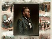 In the left of this picture U.S. Grant can be seen firing a mountain howitzer