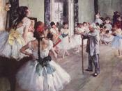The Class of Dance by Edgar Degas (1874)