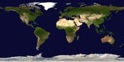 Satellite composition of the whole Earth's surface.