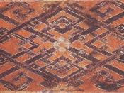 Woven silk textile from Tomb No. 1 at Mawangdui, Changsha, Hunan province, China, dated to the Western Han Dynasty, 2nd century BC.
