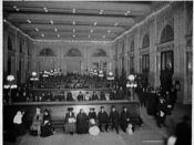 English: The interior of Grand Central Depot (now Grand Central Terminal) in New York City, circa 1904.