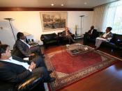Wagner recebe o ministro da Igualdade Racial, Edson dos Santos