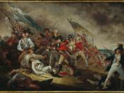 John Trumbull's painting depicting The Death of General Warren at the Battle of Bunker Hill, 1775.