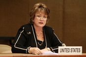 Ellen Tauscher, Under Secretary for Arms Control and International Security, unveils new U.S. National Strategy for Countering Biological Threats to the States Parties of the Biological Weapons Convention. December 9, 2009, Noon - Palais des Nations, Unit