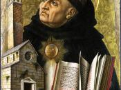 The fifth of Thomas Aquinas' proofs of God's existence was based on teleology