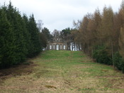 English: The Banqueting House on the National Trust estate near in north east England. Viewed from the Octagon Pond