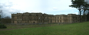 English: The shell of the Main house on the National Trust estate near in north east England.