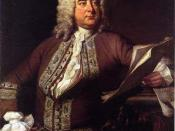 George Frideric Handel, born in the same year as Johann Sebastian Bach and Domenico Scarlatti. By Thomas Hudson (1749)