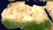 English: Sahara desert from space. Русский: Пустыня Сахара из космоса. Українська: Пустеля Сахара з космосу.