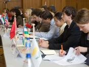 A Model United Nations Conference in Stuttgart, Germany in action.