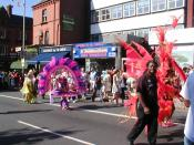 The carnival procession on London Road, 2004