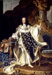 Louis XV, by Hyacinthe Rigaud, 1730 (Château de Versailles)