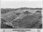 Bird's eye view of the Andersonville POW camp.