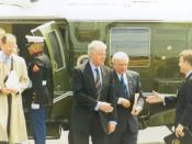 English: US Government Photo. Erskine Bowles and Bill Clinton. http://www.house.gov/mcintyre/photo_pres_visits.html