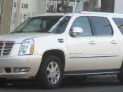 English: 2007-2009 Cadillac Escalade photographed in Alexandria, Virginia, USA. العربية: سيارة كاديلاك اسكاليد ESV 2010