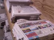 English: Star Tribune Assembly Process. Kiswahili: Star Tribune Mchakato wa uchapishaji.