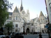 The neo-medieval pile of the Royal Courts of Justice on G.E. Street, The Strand, London.