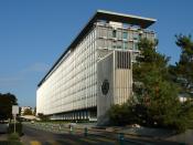 English: World Health Organisation headquarters from west, Geneva. Français : Siège de l'Organisation Mondiale de la Santé, face ouest, Genève.