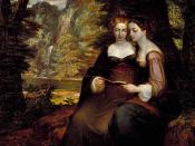 Washington Allston's 1818 painting Hermia and Helena.