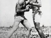 Dickerson resisted pressure to cancel the interracial boxing match between James J. Jeffries and Jack Johnson.