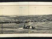 Panorama of Verdun, filmed from the Fort de la Chaume, 1917