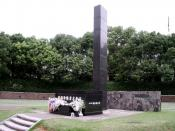English: The monument marking the atomic bomb hypocenter in Nagasaki, Japan. Photo by Eric Priest. Category:Atomic bombings of Hiroshima and Nagasaki