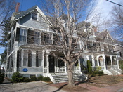 Robert Frost House, 29-35 Brewster Street, Cambridge, Massachusetts, USA. This building is listed on the National Register of Historic Places. According to a blue historical plaque on the building, it was home to noted poet Robert Frost (1874-1963) during