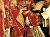 Français : Ordination d'un prêtre en l'abbaye de Fontgombault (France)