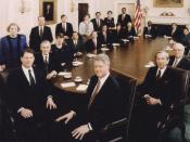 President Clinton's Cabinet, 1993. The President is seated front right, with Vice President Al Gore seated front left.