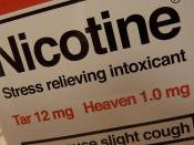 Nicotine: stress relieving intoxicant