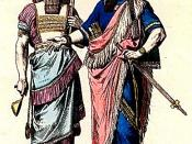 Costumes of an Assyrian High Priest and an Assyrian King. From