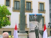 Banderas homenaje a Unamuno
