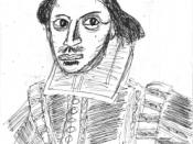 Sketch of William Shakespeare.