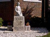 A monument dedicated to the unborn victims of abortion. This monument is next to the Church of Ste. Geneviève in Ste. Geneviève, Missouri.