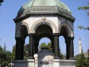 The German Fountain at the Hippodrome of Constantinople, set up to commemorate the visit of German Emperor Wilhelm II.