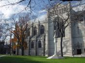 English: Exterior of the Princeton University Chapel.