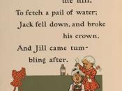 William Wallace Denslow's illustrations for Jack and Jill, from a 1901 edition of Mother Goose