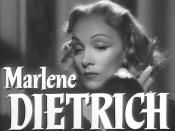 Cropped screenshot of Marlene Dietrich from the trailer for the film Stage Fright