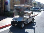 E-Z-GO golf cart in South San Francisco, California.