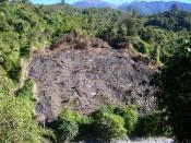 English: Land cleared for Jhum, a type of shifting cultivation practiced in North-east India. This photo from Gandhigram in Vijaynagar circle of Arunachal Pradesh, India.