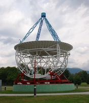 English: Replica of Grote Reber Radio Telescope at National Radio Astronomy Observatory in Green Bank, West Virginia.
