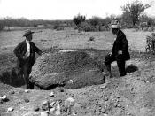 English: Caption: Esperanza Stone. Discovered by Major F. R. Burnham, Yaqui Delta, Senora, Mexico