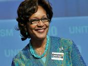 English: Arlene Holt Baker, newly re-elected AFL-CIO Executive Vice President, after speaking at the AFL-CIO Quadrennial Convention in Pittsburgh, Pennsylvania, on September 16, 2009