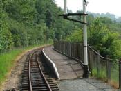 English: Llangower railway station on the Bala Lake Railway