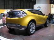 Français : Concept-car Mazda Hakaze, salon de Genève 2007 -- interprétation de SUV compact.