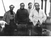 Left to right - Wild, Shackleton, Marshall, Adams. The four members of the party that set out to attempt to become the first to reach the South pole, they were defeated by the weather, but also a lack of supplies and suitable equipment just 97 miles from
