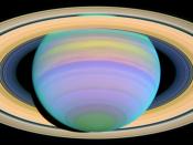 English: Saturn's Rings in Ultraviolet Light Français : Les anneaux de saturne présentés par ultraviolet Tiếng Việt: Các vòng đai của Sao Thổ trong ánh sáng cực tím.