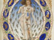 Anatomical Man in the Duke Berry's Très Riches Heures