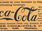 Coca-Cola advertisement on the cover of