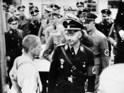 Inspection by the Nazi party and Himmler at the Dachau Protective Custody Camp on 8 May 1936.